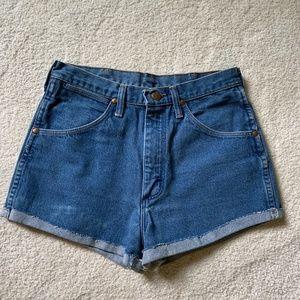 Wrangler High-Rise Blue Denim Jeans